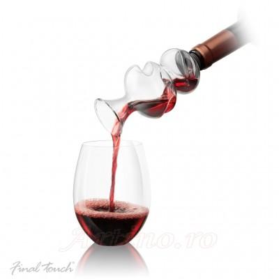 Aerator Dublu Twister pentru vin, Final Touch