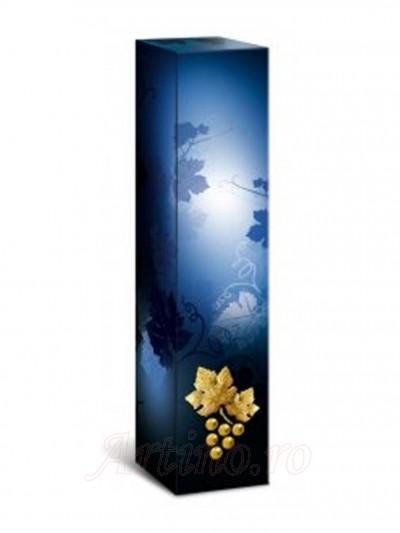 Cutie Cadou sticla vin Albastra Grape