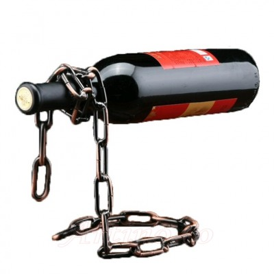 Suport metal cromat sticla de vin