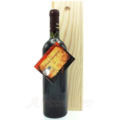 Vin 2009 Cabernet Sauvignon de Bohotin + cutie lemn