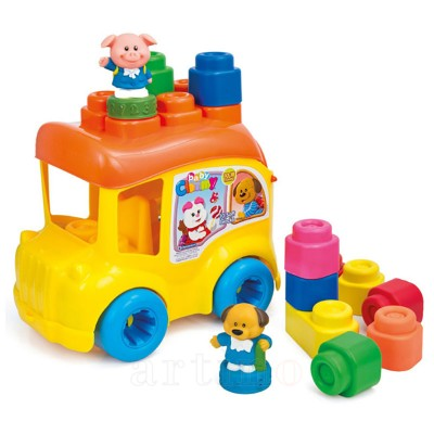 Autobuz Scolar cu 12 Cuburi, Clementoni