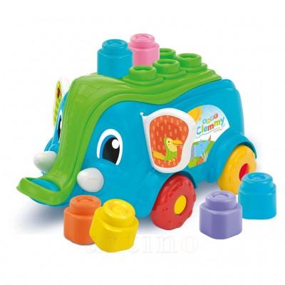 Jucarie elefantel cu cuburi, Clementoni