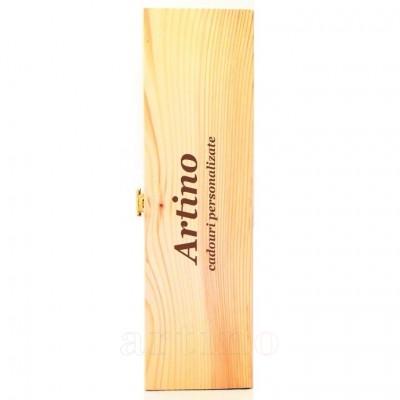 Cutie lemn personalizata pentru vin