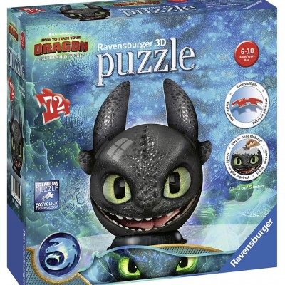 Puzzle 3D Dragons Iii, 72 Piese, Ravensburger