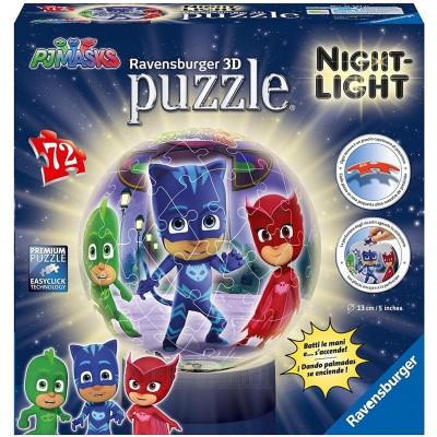 Puzzle 3D Eroi in Pijamale M1, 72 piese, Ravensburger