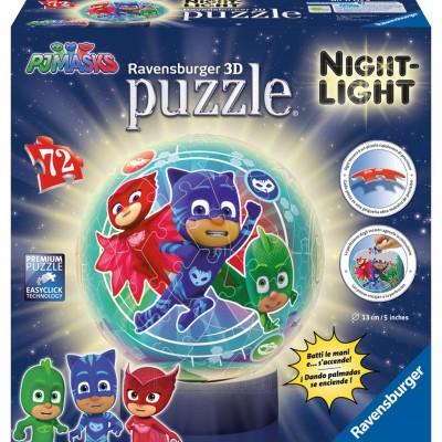 Puzzle 3D Eroi in Pijamale M2, 72 piese, Ravensburger