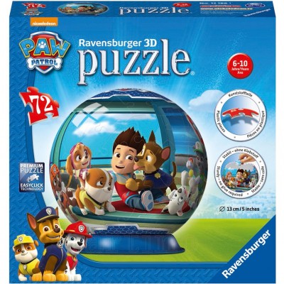 Puzzle 3D Paw Patrol, 72 Piese, Ravensburger