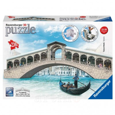 Puzzle 3D Podul Rialto, 216 Piese, Ravensburger