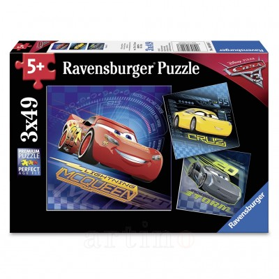 Puzzle Cars, 3X49 Piese, Ravensburger