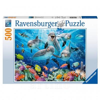 Puzzle Delfini, 500 Piese, Ravensburger