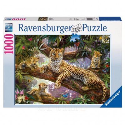 Puzzle Familie de Leoparzi, 1000 Piese, Ravensburger