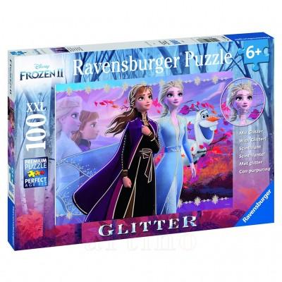 Puzzle Frozen II ELSA&ANNA, 100 piese,