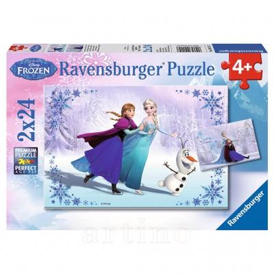 Frozen Surori Pentru Totdeauna, 2X24 Piese, Ravensburger