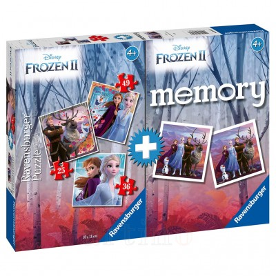 PUZZLE + JOC MEMORY FROZEN II, Ravensburger