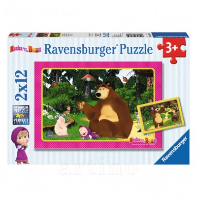 Masha si Ursul, 2X12 Piese, Ravensburger