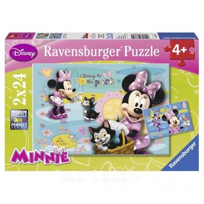 Puzzle Minnie Mouse, 2X24 Piese, Ravensburger