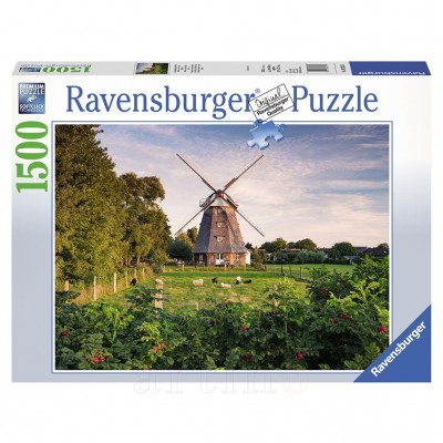 Puzzle Moara de Vant, 1500 Piese, Ravensburger