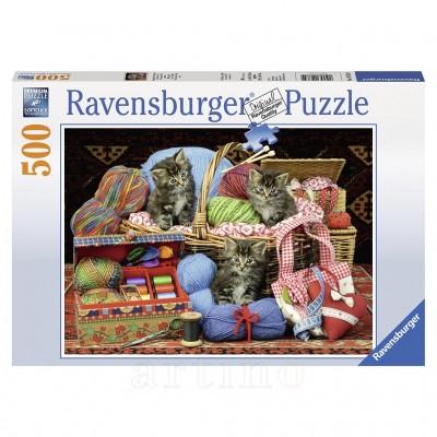 Puzzle Pisici si Ghem, 500 Piese, Ravensburger