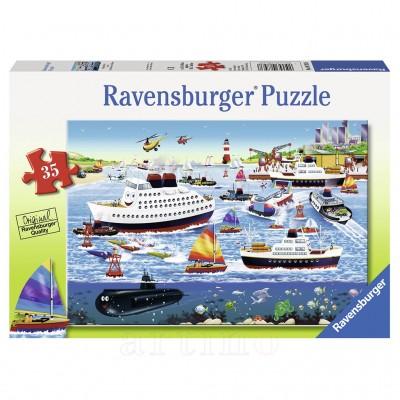 Puzzle Port Fericit, 35 Piese, Ravensburger
