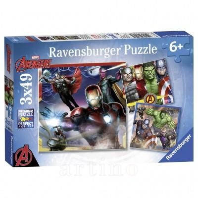 Puzzle Razbunatorii, 3X49 Piese, Ravensburger