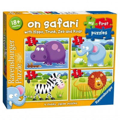 Puzzle Safari, 2/3/4/5 Piese, Ravensburger