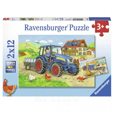 Puzzle Santier, 2X12 Piese, Ravensburger