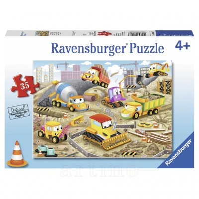 Puzzle Santier in Lucru, 35 Piese, Ravensburger