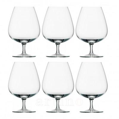 Set 6 pahare cognac din cristal, Grandezza