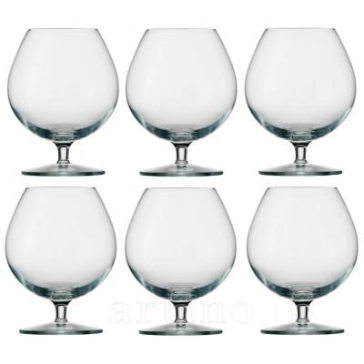 Set 6 pahare cognac din cristal, Milano