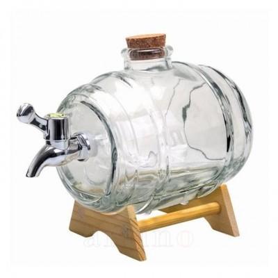 Butoi sticla cu robinet, 1 litru