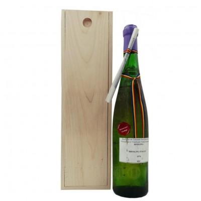 Vin colectie 1974 Riesling Italian + cutie lemn