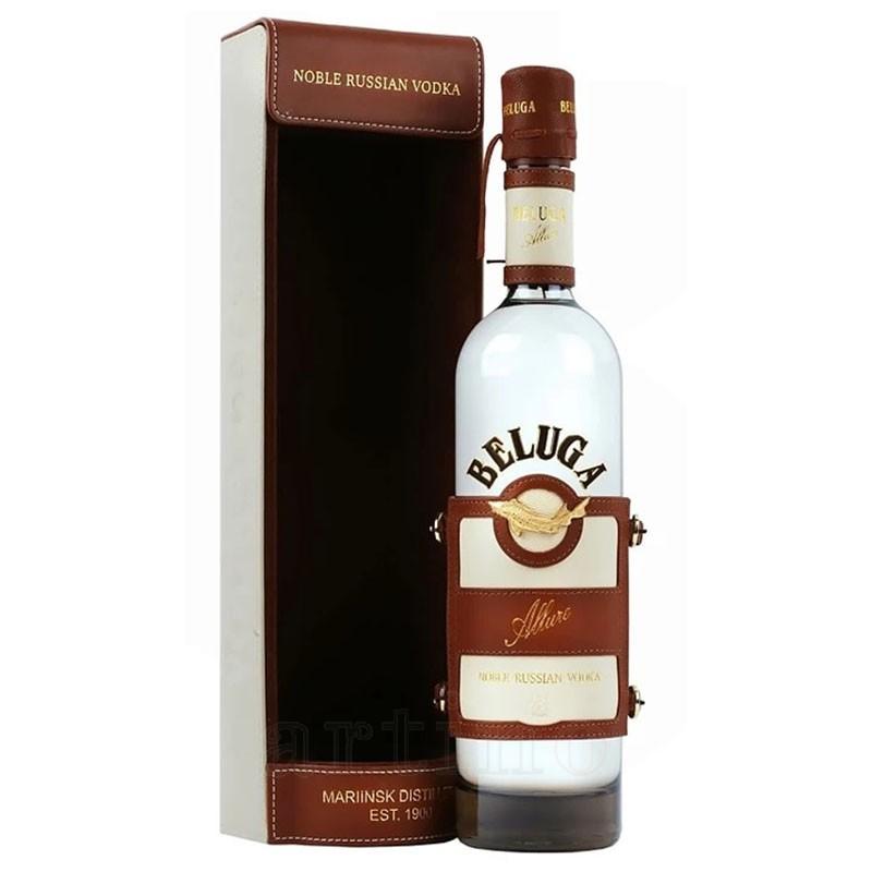 Vodka Beluga Allure + Leather Case, 0.7L