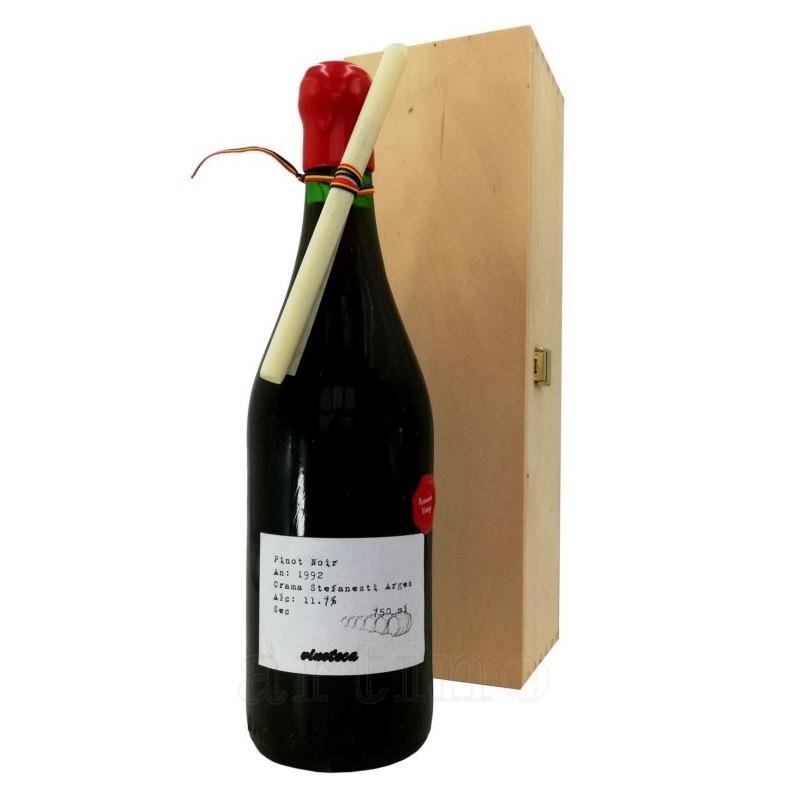 Vin colectie 1992 Pinot Noir Stefanesti + cutie lemn