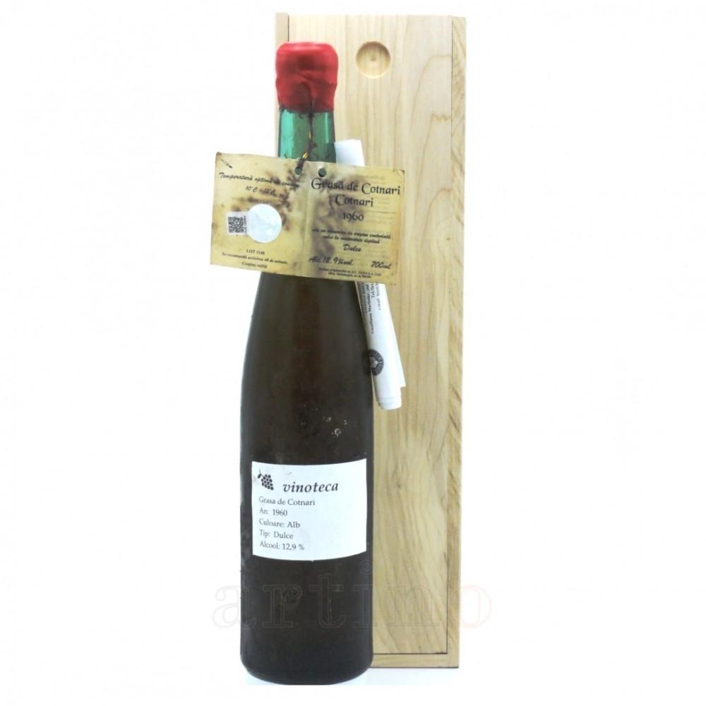 Vin colectie 1960 Grasa de Cotnari + cutie lemn