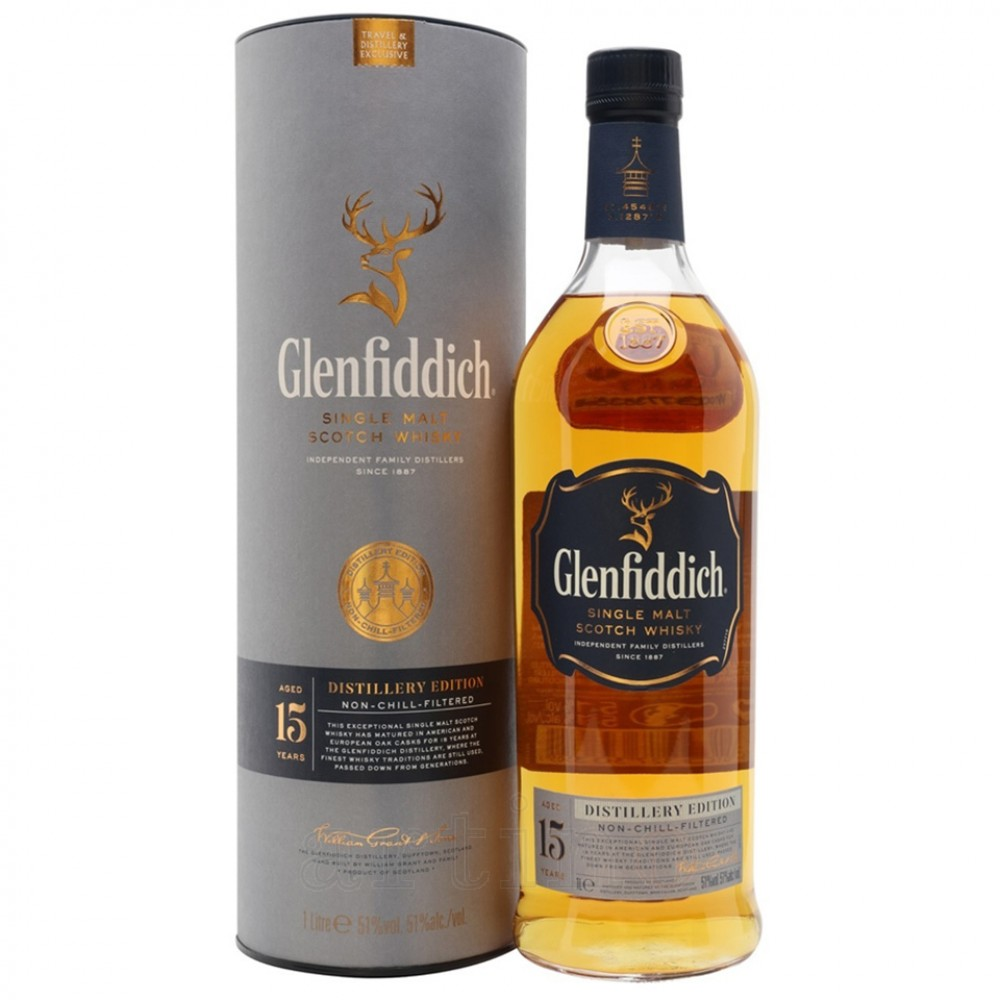 Glenfiddich 15 ani Distillery Edition, 1L