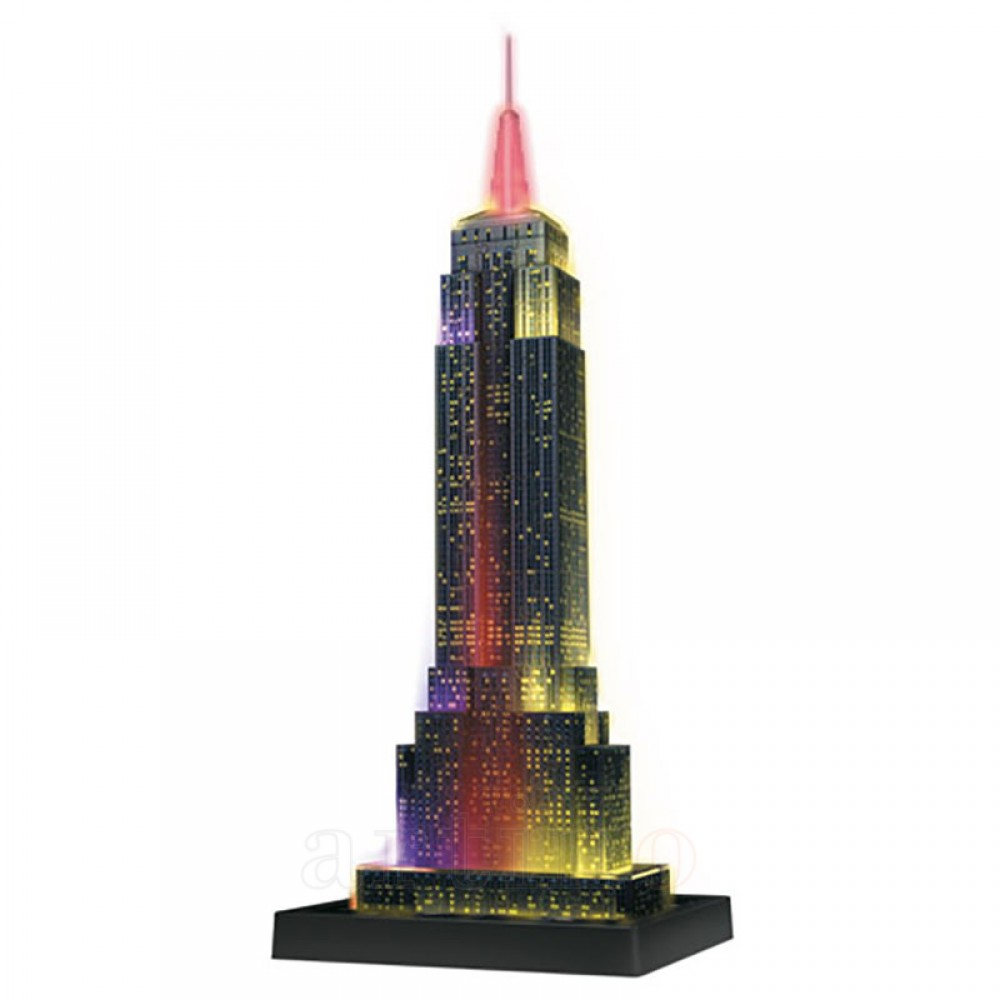 Puzzle 3D Empire State Building, Lumineaza Noaptea