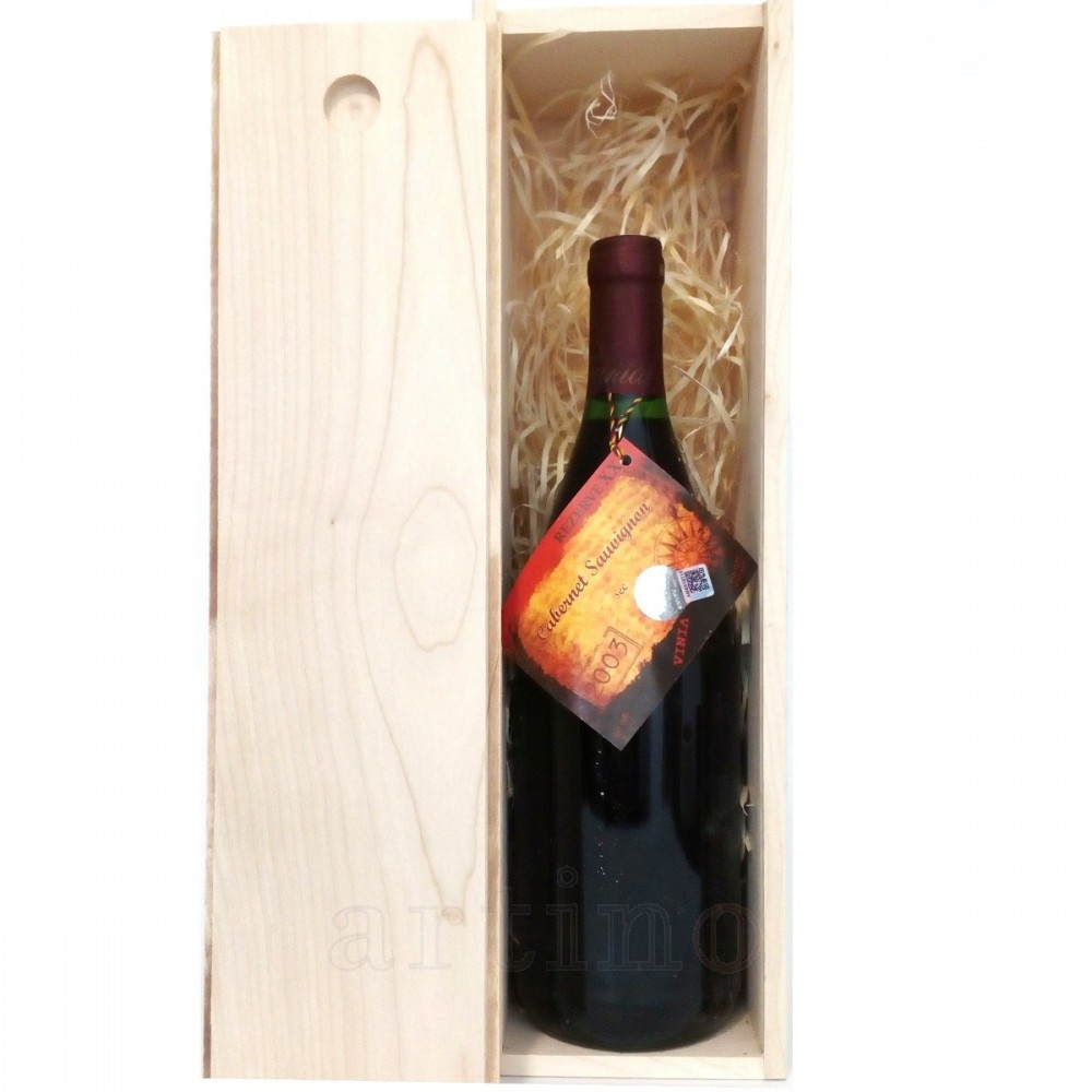Vin colectie 2003 Cabernet Sauvignon Murfatlar, 1 Litru + cutie lemn