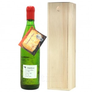 Vin colectie 1996 Sauvignon Blanc + cutie lemn