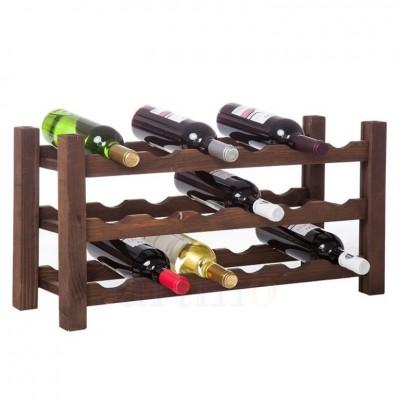 Raft lemn 18 sticle VinO lacuit