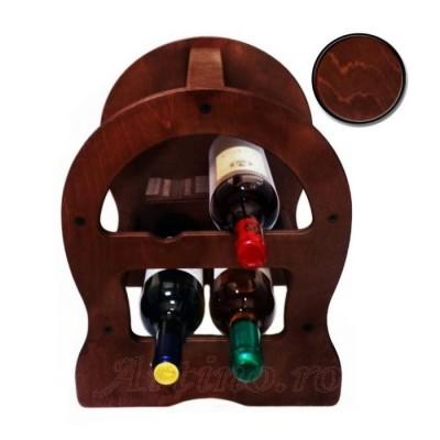 Raft lemn rustic 4  sticle