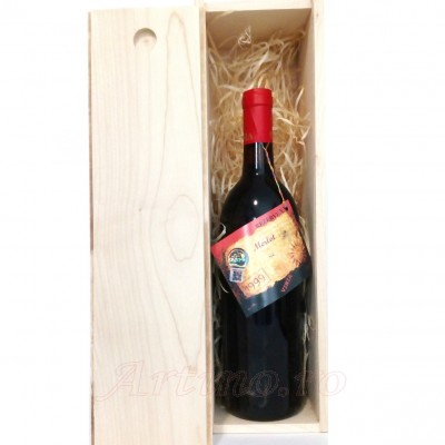 Vin colectie 1999 Merlot + cutie lemn