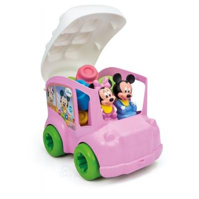 Jucarie Autobuz Minnie cu cuburi, Clementoni