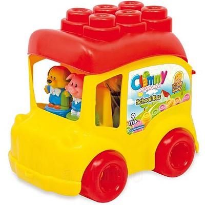 Jucarie Autobuz scolar cu 12 cuburi, Clementoni