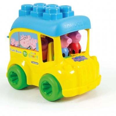 Set cuburi Soft Clemmy, autobuz Peppa, Clementoni