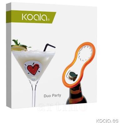 Set desfacator universal si identificatoare pahare Party, Koala - mic
