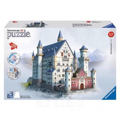 Puzzle 3D Castelul Neuschwanstein, 216 Piese, Ravensburger