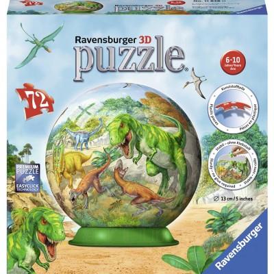 Puzzle 3D Dinozauri, 72 Piese, Ravensburger