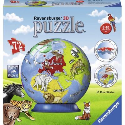Puzzle 3D Glob, 72 Piese, Ravensburger