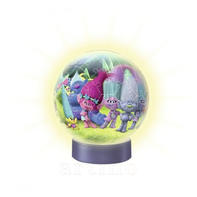 Puzzle 3D Luminos Trolls, 72 Piese, Ravensburger