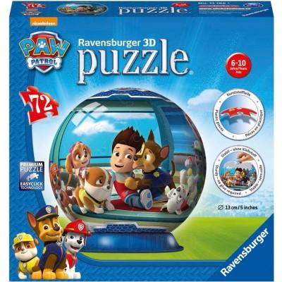 Puzzle 3D Paw Patrol, 72 Piese, Ravensburger - mic